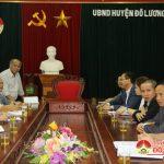Lãnh đạo huyện làm việc với Công ty Minh Anh về dự án xây dựng nhà máy may