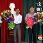 Huyện ủy trao quyết định bổ nhiệm cán bộ