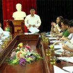 Thường trực HĐND huyện làm việc thống nhất nội dung và thời gian kỳ họp lần thứ 4 khóa XIX