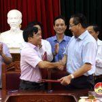 UBND huyện tổ chức hội nghị ký kết biên bản ghi nhớ với tập đoàn Minh Anh
