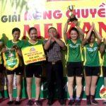 Xã Trù Sơn tổ chức chung kết giải bóng chuyền nữ Meizan cup