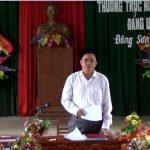 Thường trực huyện ủy làm việc tại xã Đông Sơn