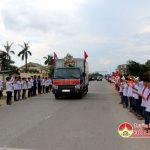 Đô Lương tổ chức lễ đón hài cốt các anh hùng liệt sỹ và chuyên gia quân tình nguyện Việt Nam