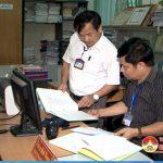 Đoàn kiểm tra UBND huyện kiểm tra công tác văn phòng và tư pháp xã, thị trấn