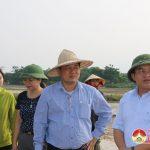 Đồng chí Ngọc Kim Nam – Chủ tịch UBND huyện kiểm tra tiến độ sản xuất hè thu năm 2017.