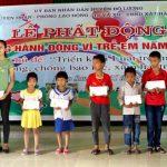 Đô Lương tổ chức lễ phát động tháng hành động vì trẻ em năm 2017