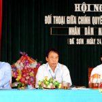 Xã Đà Sơn tổ chức hội nghị đối thoại giữa chính quyền và nhân dân.