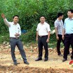Đồng chí Ngọc Kim Nam – Chủ tịch UBND huyện kiểm tra bãi rác Hồng Sơn