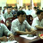 UBND huyện Đô Lương bổ cứu công tác sản xuất vụ hè thu mùa năm 2017