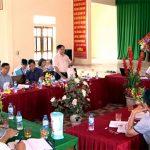 Thường trực huyện uỷ làm việc với Đảng uỷ xã Bồi Sơn