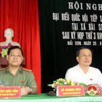 Đoàn đại biểu QH tỉnh Nghệ An tiếp xúc cử tri Đô Lương