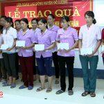 Liên đoàn lao động huyện Đô Lương  tặng quà các đoàn viên gia đình chính sách và có hoàn cảnh khó khăn.