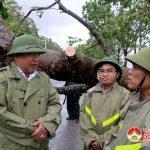 Đồng chí Nguyễn Xuân Đường – Chủ tịch UBND tỉnh kiểm tra công tác khắc phục bão số 2 ở Đô Lương