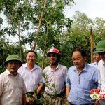 Đồng chí Ngọc Kim Nam – Chủ tịch UBND huyện kiểm tra kênh thoát nước tại xã Thuận Sơn