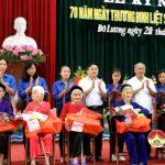 Đô Lương tổ chức kỷ niệm 70 năm ngày thành lập TBLS 27/7  và tuyên dương các điển hình tiên tiến.