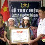 Thị trấn tổ chức lễ truy điệu liệt sỹ Nguyễn Cảnh Sơn