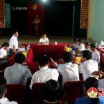 UBND huyện làm việc với xã Hồng Sơn.