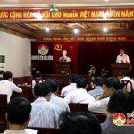Đoàn liên ngành kiểm tra công tác thực hiện nhiệm vụ giải tỏa hành lang ATGT tại huyện Đô Lương