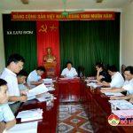 Thường trực huyện ủy làm việc với Đảng ủy xã Lưu Sơn về kết quả thực hiện sau kiểm điểm nghị quyết TW 4