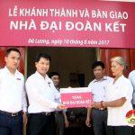 Ngân hàng NN&PTNT huyện Đô Lương trao nhà đại đoàn kết