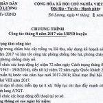 Chương trình công tác tháng 8 của UBND huyện Đô Lương