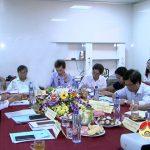 Đồng chí Phạm Xuân Dũng – Uỷ viên Trung ương Đảng – Chủ nhiệm Uỷ ban khoa học làm việc với công ty cổ phần chăn nuôi Thái Dương