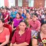 Xã Hoà Sơn truyền thông chăm sóc SKSS về bệnh ung thư vú và cổ tử cung