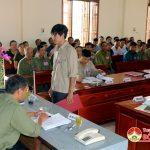 Xã Văn Sơn tổ chức diễn tập chiến đấu phòng thủ năm 2017