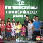 Xóm Yên Quang, xã Yên Sơn tổ chức lễ phát động tháng khuyến học lần thứ 14 và trao thưởng khuyến học năm 2017