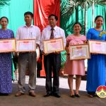 Trường THCS Nguyễn Quốc Trị tổ chức khánh thành tượng đài anh hùng Nguyễn Quốc Trị và Khai giảng năm học mới.