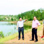 Đồng chí Ngọc Kim Nam – Chủ tịch UBND huyện Đô Lương kiểm tra công tác phòng, chống bão số 10