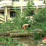 Đồng chí Nguyễn Trung Thành – Phó chủ tịch UBND huyện  kiểm tra công tác phòng chống bão số 10