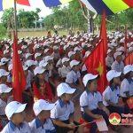 Trường Tiểu học xã Giang Sơn Đông khai giảng năm học mới.