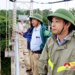 Đồng chí Hoàng Văn Hiệp – Phó chủ tịch UBND huyện kiểm tra các xã