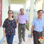 Đồng chí Nguyễn Thị Anh Quang kiểm tra, chỉ đạo công tác phòng chống bão số 10