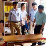 Đồng chí Ngọc Kim Nam – Chủ tịch UBND huyện kiểm tra các xã.