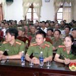 Công an Đô Lương tổ chức tập huấn nghiệp vụ công an viên năm 2017