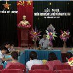 Thường trực huyện ủy làm việc với Đảng ủy Thị Trấn