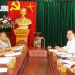 Vụ địa phương, Ban tổ chức Trung ương  Đảng làm việc với huyện uỷ Đô Lương