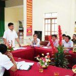 UBND Huyện rà soát các chỉ tiêu nông thôn mới ở xã Bồi Sơn