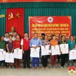 Hội chữ thập đỏ thành phố Hồ Chí Minh thăm và tặng quà nhân dân bị lũ lụt huyện Đô Lương