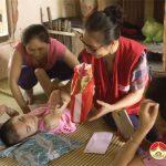 Hội chữ thập đỏ huyện Đô Lương đi thăm và tặng quà cho trẻ em có hoàn cảnh khó khăn nhân dịp tết trung thu