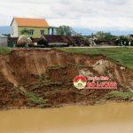 Đô Lương: Sụt lở bờ kênh sông Đào