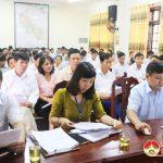 UBND huyện tổ chức hội nghị đánh giá kết quả kiểm tra công tác Văn phòng, Tư pháp