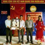 Đồng chí Lê Khắc Ngọc – Phó Chủ tịch MTTQ huyện dự ngày hội  Đại đoàn kết xóm 7 xã Bắc Sơn.