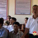 Đồng chí Ngọc Kim Nam- Phó bí thư- Chủ tịch UBND huyện tiếp xúc cử tri xóm 5 xã Xuân Sơn.