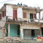 Xã Yên Sơn tổ chức giải tỏa ngôi nhà vi phạm hành lang ATGT