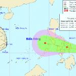 Xuất hiện vùng áp thấp đang mạnh lên và có khả năng đi vào Biển Đông