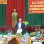 Thường trực huyện ủy làm việc với Đảng bộ xã Nam Sơn
