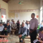 Đồng chí Lê Minh Giang tiếp xúc cử tri tại xóm 8, xã Tràng Sơn